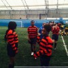 Girls compete at Millwall FC football competition